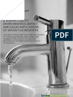Human Toxicity, Environmental Impact and Legal Implications of Water Fluoridation_February 2012