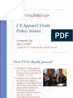 US Apparel Trade Policy Issues - Forum Apparel Sourcing Show 2012