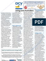 Pharmacy Daily for Thu 31 May 2012 - Screening saves lives, Pharmacist prescribing, Group fitness, President in Senate and much more...