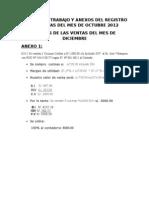 Anexo Registro de Venta 2012