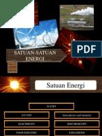 SATUAN-SATUAN ENERGI