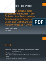 Anelyzes on Effect of Total Suspended Particulate (