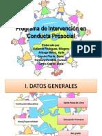 Programa de Intervención en Conductas Prosociales