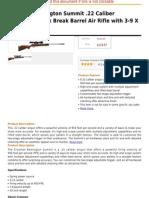 Crosman Remington Summit .22 Caliber Hardwood Stock Break Barrel Air Rifle With 3-9 X 40mm Scope