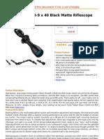 Nikon ProStaff 3-9 x 40 Black Matte Rifle Scope (BDC)