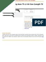 Seac Spearfishing Asso 75 c r Air Gun (Length 79 Cm)