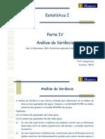 06 Estatística I 2012 1 Economia - Análise da Variância