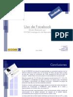 Uso de Facebook - ICCOM 2008