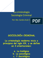 Criminologia Sociologica Curso Criminologia