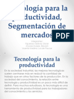 Tecnología para la productividad, Segmentación de mercados