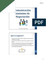 Liderazgo - Negociación