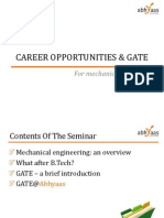 Career opportunities and GATE Preparation for Mechanical Engineers