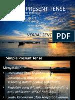 Simple Present Tense Verbal Sentence