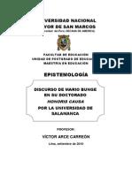 M Bunge Discurso U Salamanca Epist-UNMSM 10-II