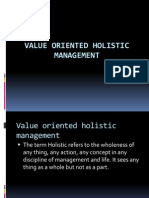 Value Oriented Holistic Management