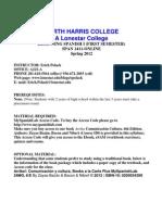 Syllabus Spanish 1411 Spring 20121