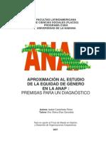 Aproximación al estudio de la equidad de género... Isabel Castañeda