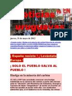 Noticias Uruguayas Jueves 31 Mayo Del 2012