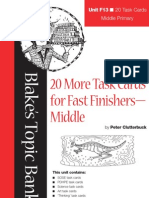 Middle Fast Finishers TaskCards