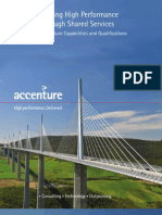 Accenture Driving Hgh Performance Through Shared Services Accenture Capabilities Qualifications