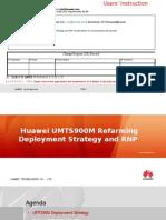 UMTS900 Refarming Deployment Strategy V1.0