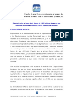 Moción reclamación a la Junta para que pague la deuda andaluza.