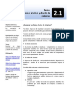 2.1.- Introduccion al analisis ydiseño de sistemas