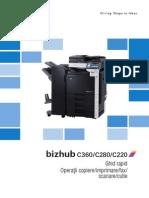 Bizhub c360 c280 c220 User Manual Romana