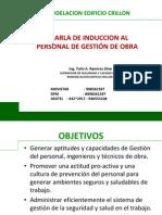CHARLA DE INDUCCIÓN PROF. Y TEC. DE OBRA