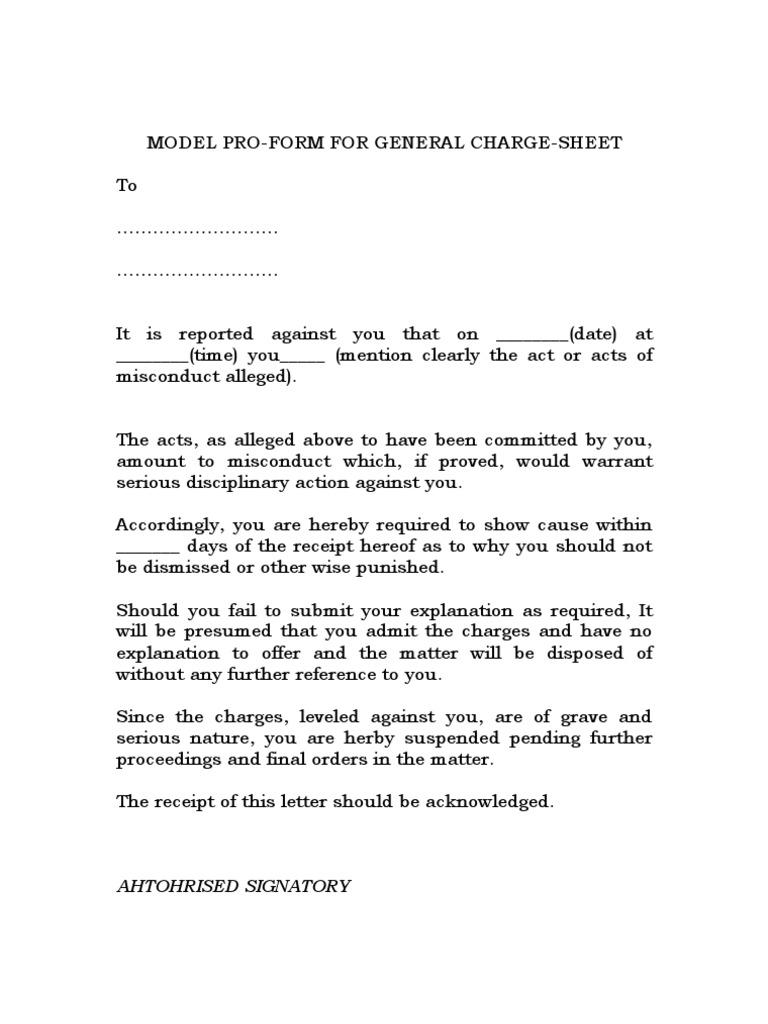 79840 Poor Performance Warning Letter Format Hr Forms