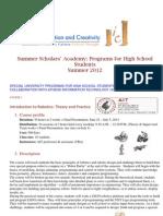 IIC Summer Scholars' Academy 2012