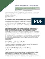 Fondements Coraniques Et Sunnites de La Tariqa Tidjane