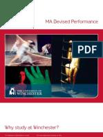 MA Devised Performance Leaflet 2010