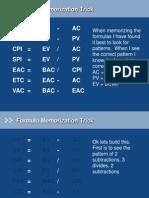 Basic PMP Formulas