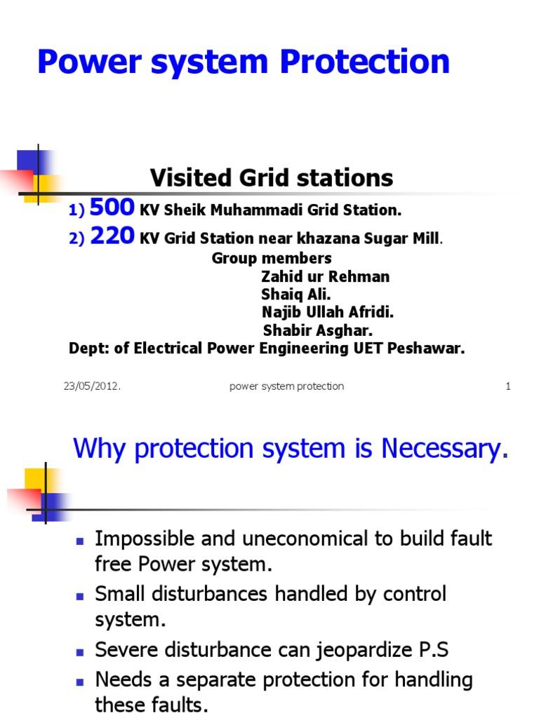 Power System Protection Basics  a Visit to Sheik Muhammadi