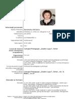 Model CV in Romana
