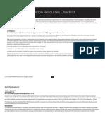 Consumer Info Checklist