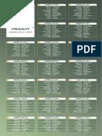 Calendrier Ligue 2 2012/13