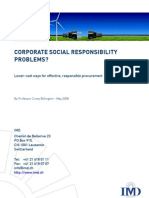 Corporate Social Responsability Problems