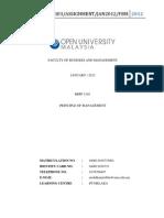840611-01-6733 Asignment Bbpp1103 Principles of Management