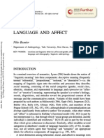 Language and Affect Niko Besnier Annual Rev of Anthropology 1990