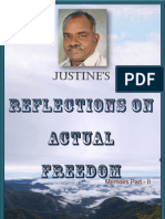 Justine's Reflections on Actual Freedom