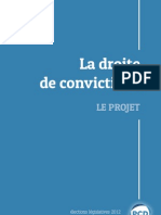 Legislatives 2012 - Le projet du PCD