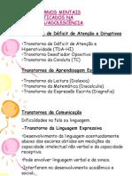 Slides Transtornos Diagnosticados na Infância