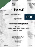 3860 Manual Projector