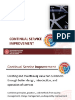 ITIL Overview Continual Service Improvement