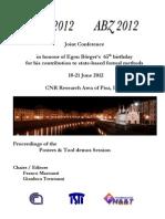 proceedings IFM+ABNZ 2012  Posters &Toolsdemo Session