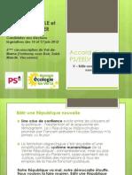 Accord PS EELV - Chapitre 5