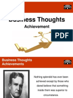 Business Thoughts - Achievement