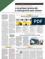 Lima Presenta Su Primer Protocolo de Acciones de cia Ante Sismos
